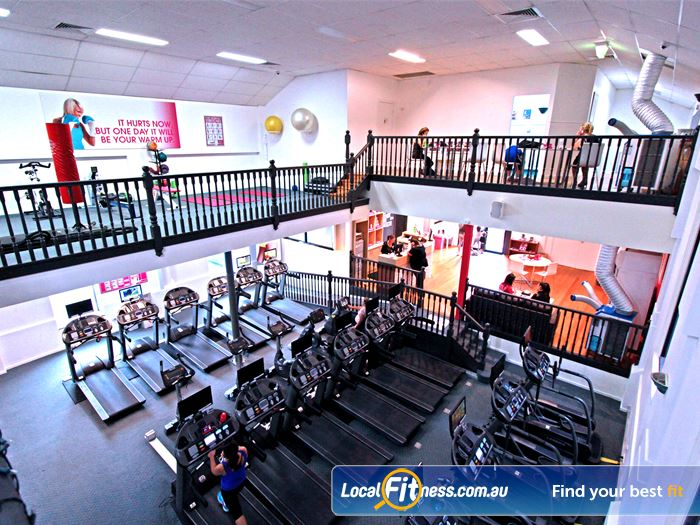 Fernwood Fitness Southland Gym Moorabbin  | The 2 level spacious Fernwood Cheltnham gym.