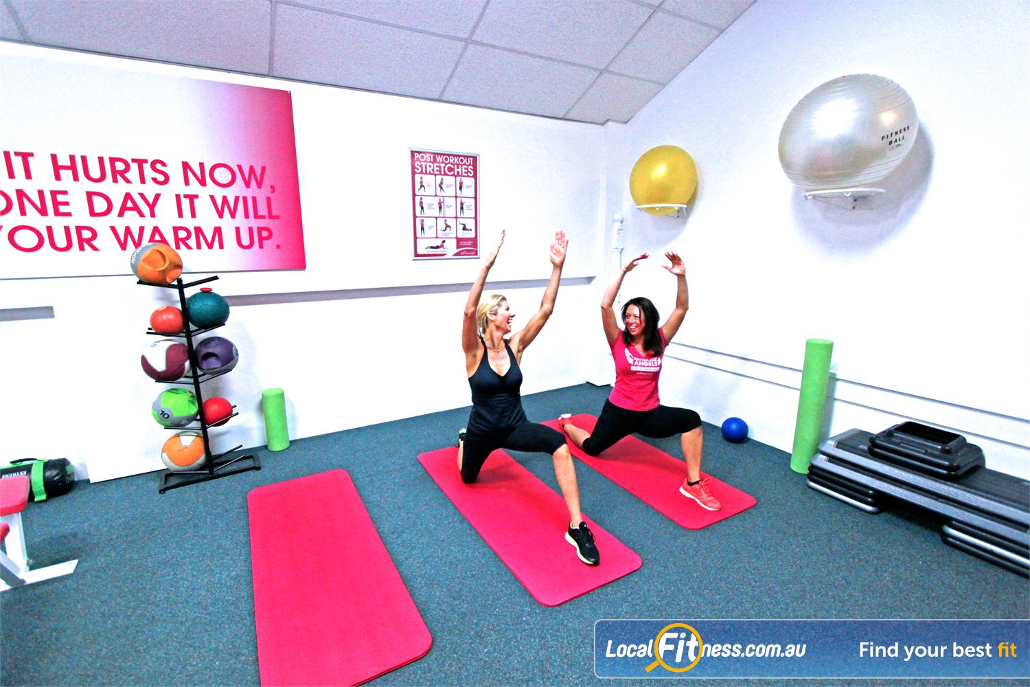 Fernwood Fitness Southland Cheltenham Balance your workout in our stretching and ab workout zone.