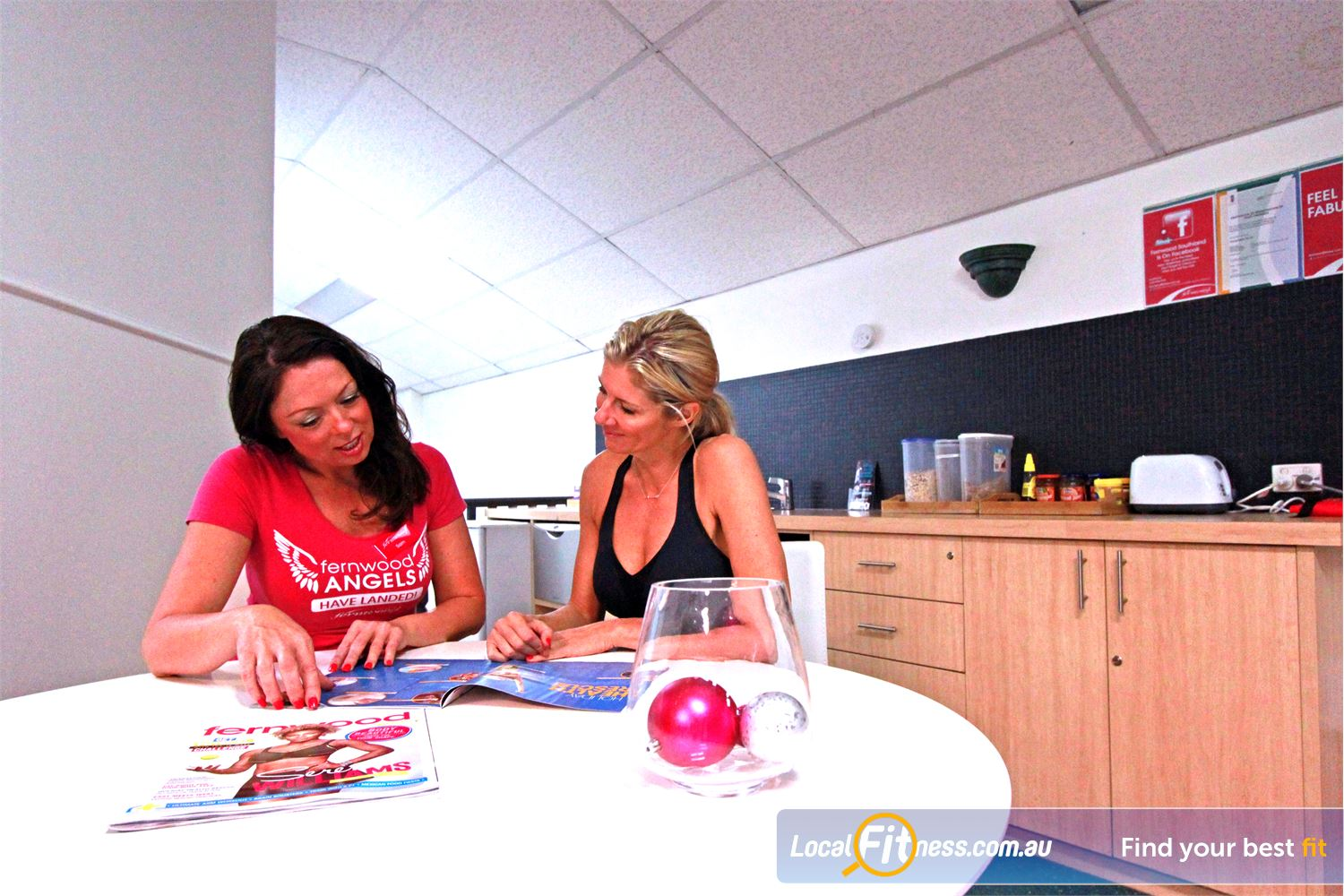 Fernwood Fitness Southland Cheltenham Meet all our wonderful members in our kitchen members area.
