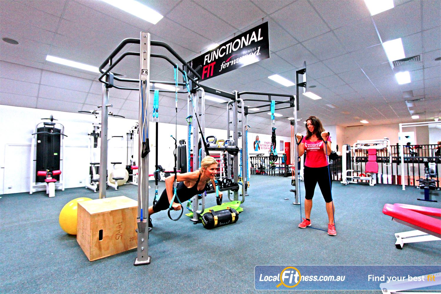 Fernwood Fitness Southland Near Mentone Our functional training rig, TRX, sandbags, plyo-boxes and more.