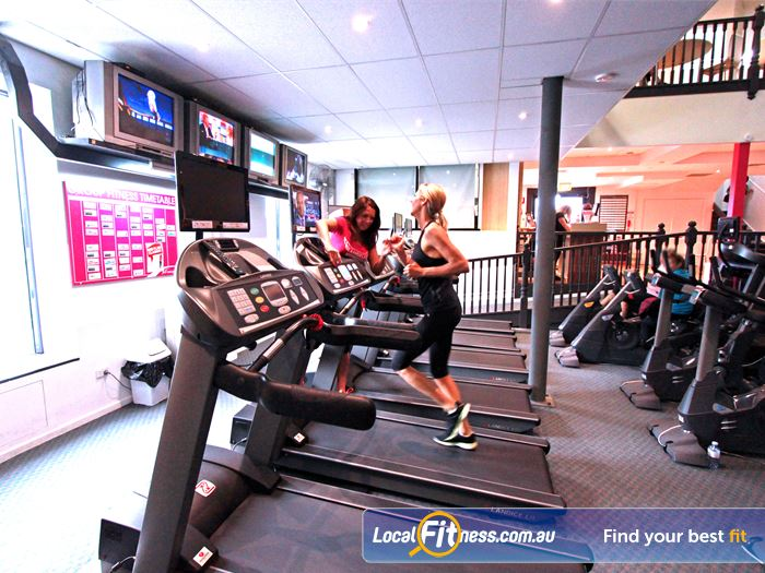 Fernwood Fitness Southland Cheltenham Ladies Gym Fitness Treadmills, cycle bikes,