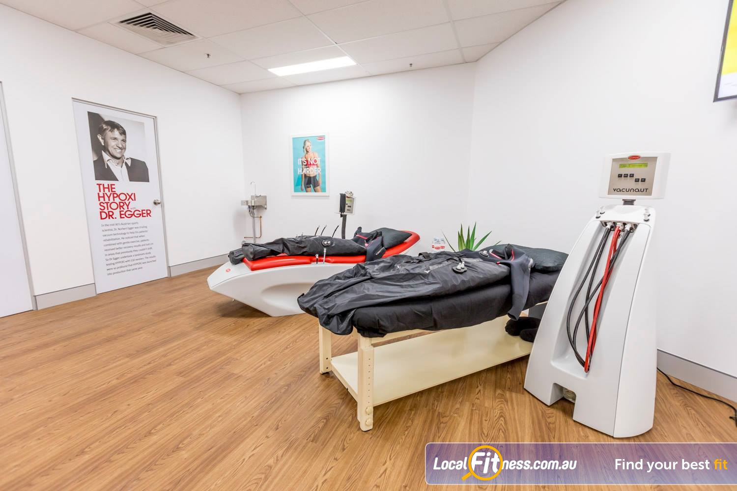 HYPOXI Weight Loss Near Greenwood Low impact exercise on the treadmill while the vacuum machines target fat loss.