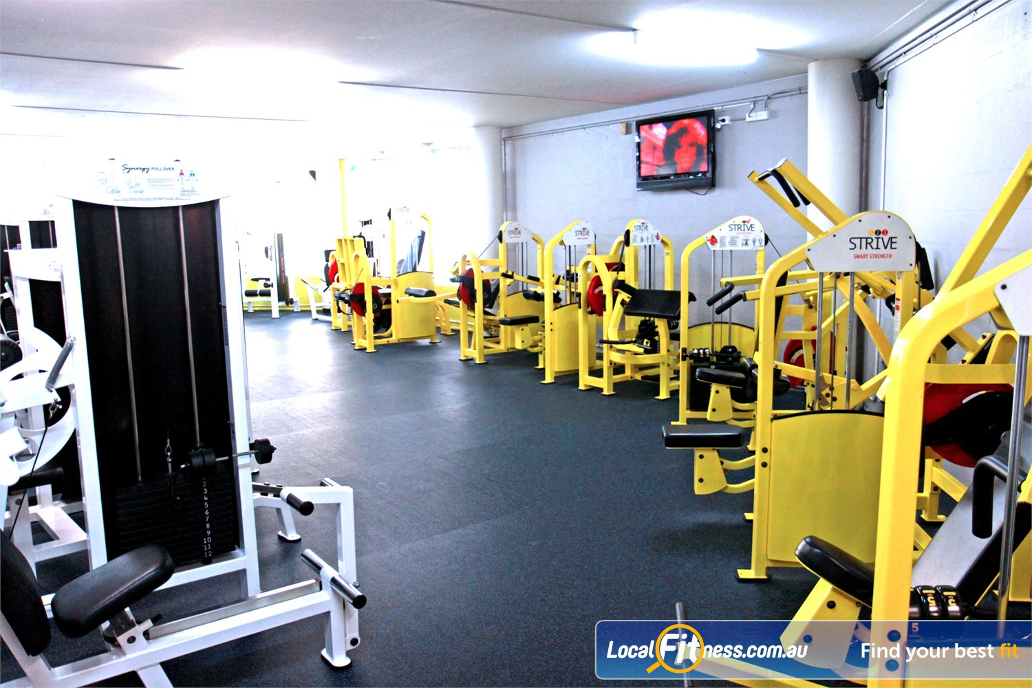 Goodlife Health Clubs Near Cleveland The Alexandra Hills gym includes an extensive selection of equipment from Calgym and Strive.