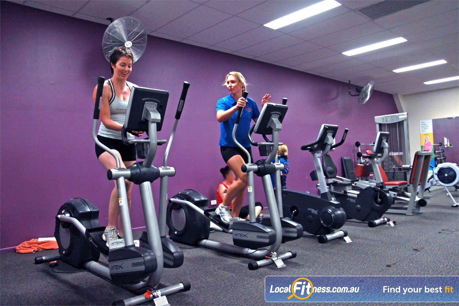 Goodlife Health Clubs Alexandra Hills Dedicated ladies only cardio area.