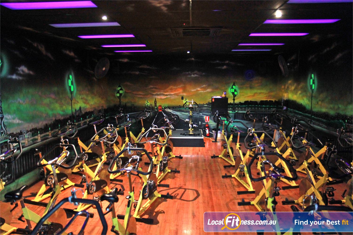 Goodlife Health Clubs Near Cleveland Dedicated Alexandra Hills spin cycle studio.