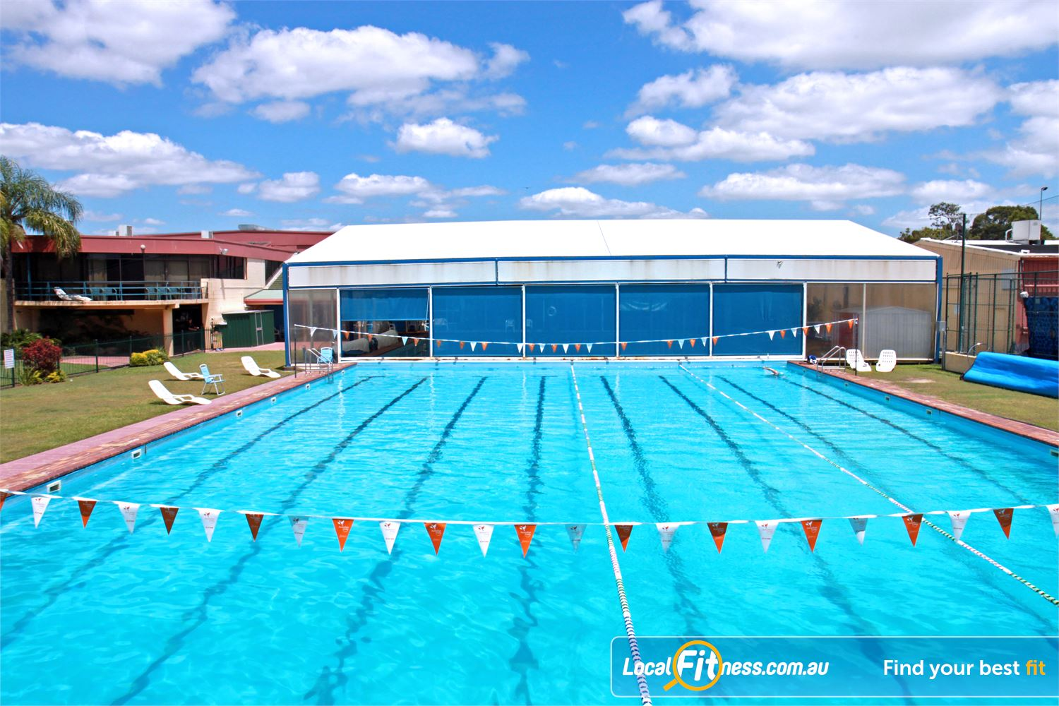 Goodlife Health Clubs Alexandra Hills The outdoor Olympic size Alex Hill Swimming Pool.