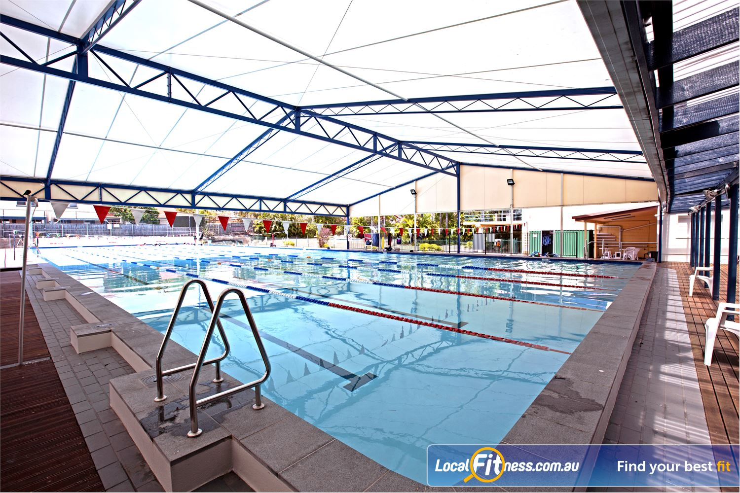 Goodlife Health Clubs Near Thornlands The indoor Alexander Hill swimming pool area.