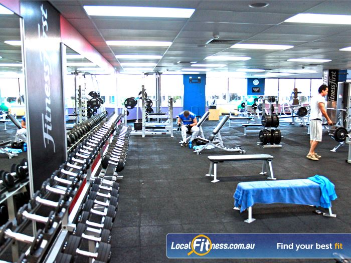Goodlife Health Clubs Gym Mount Gravatt  | An extensive range of dumbbell and barbell equipment