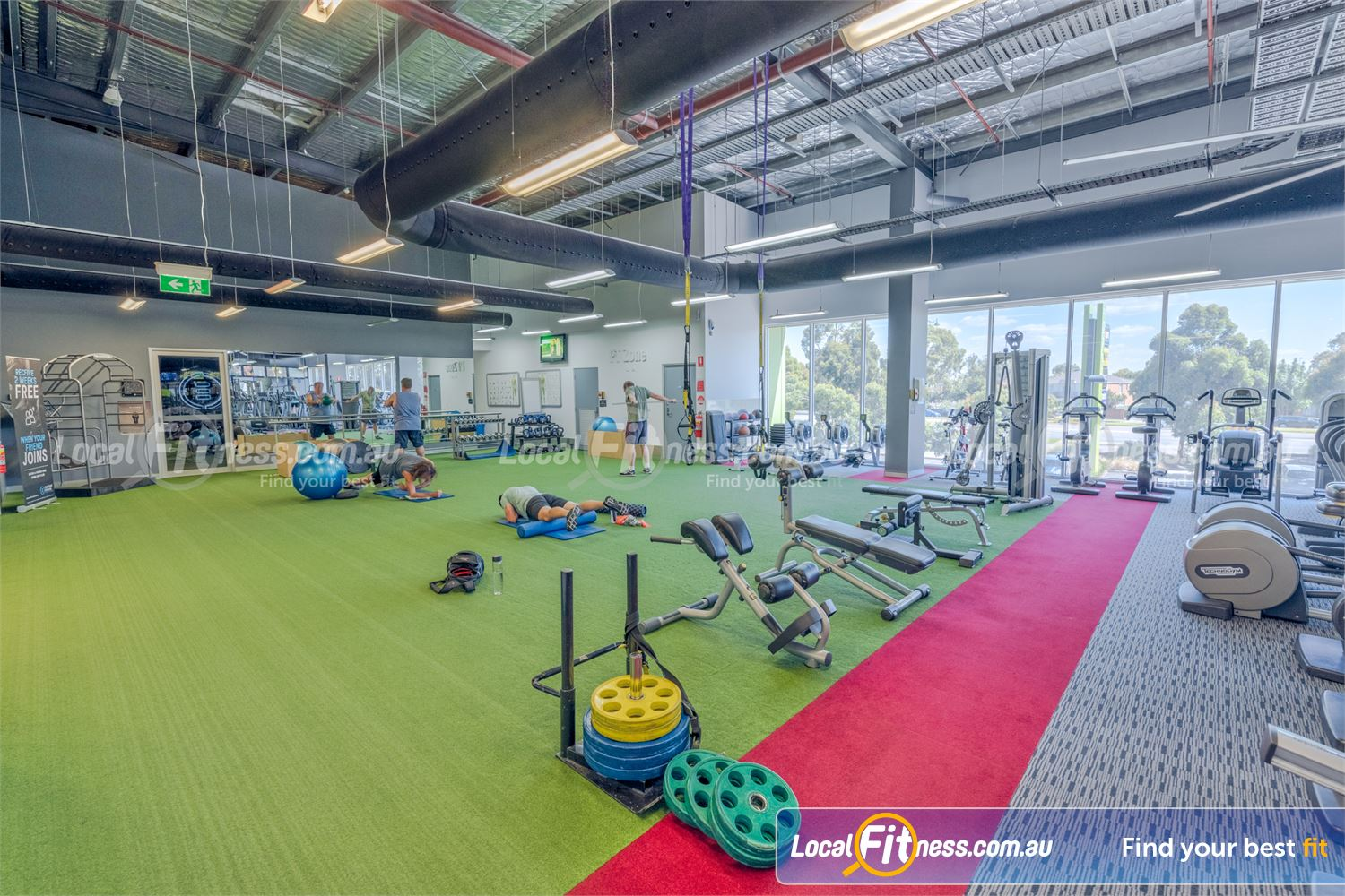 Element Fitness Health Club Nunawading Our Nunawading gym includes a spacious functional training area.