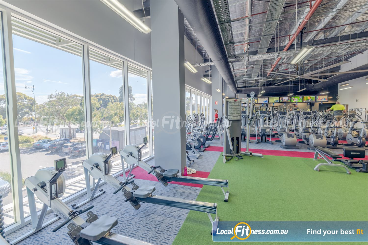 Element Fitness Health Club Near Vermont South Our spacious Nunawading gym includes floor to ceiling windows.