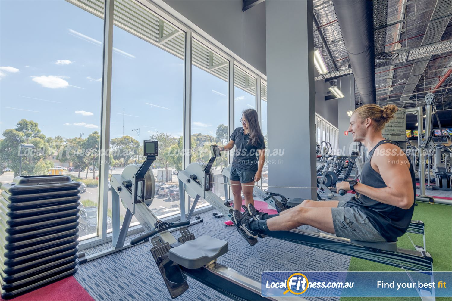 Element Fitness Health Club Near Vermont Our Nunawading personal trainers can challenge you with HIIT rowing.