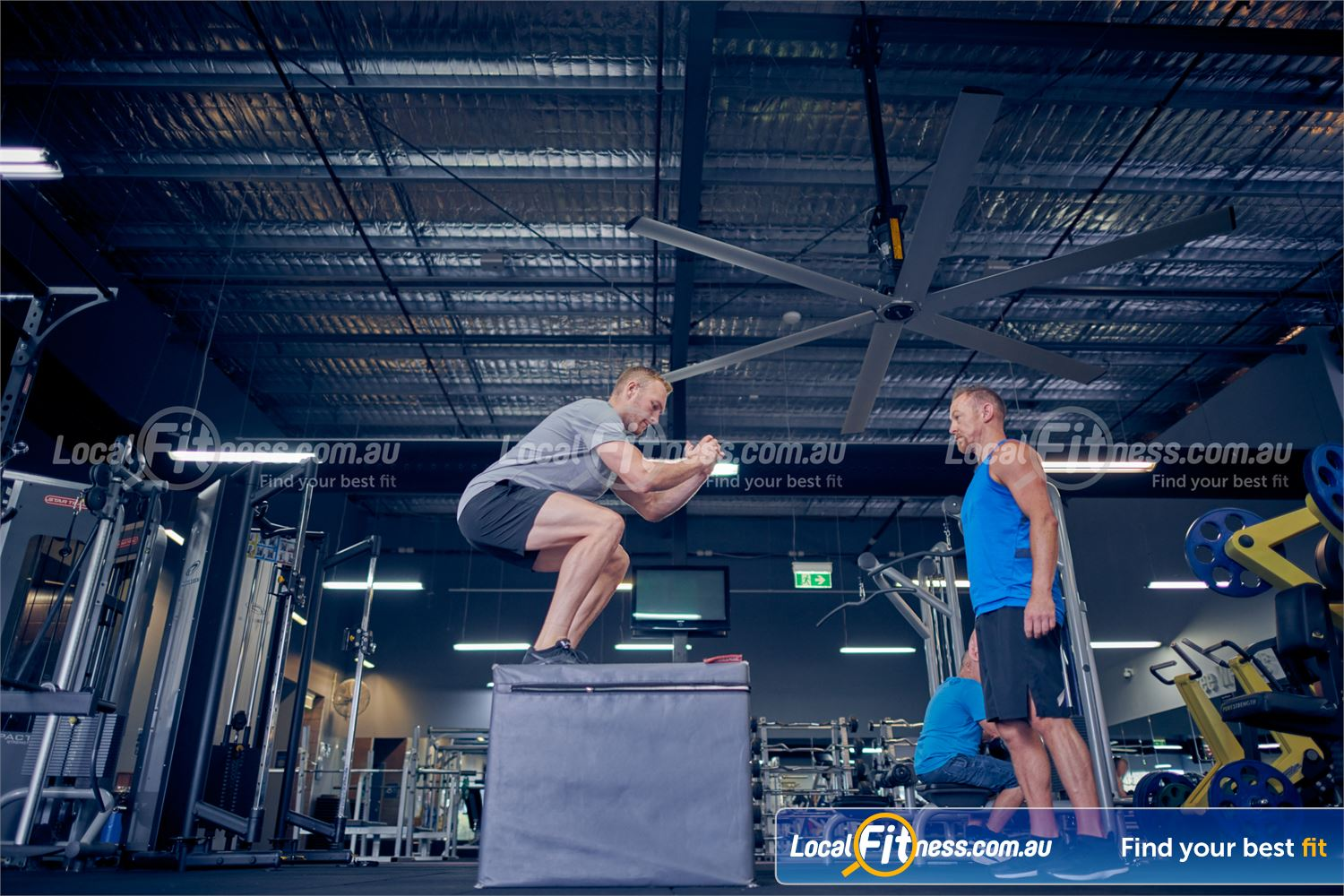Element Fitness Health Club Near Mitcham Get into functional plyometric training with box jumps.