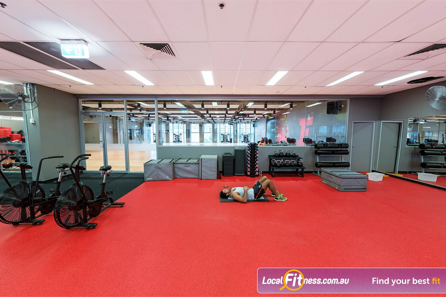 Fitness First Platinum Spring St Bondi Junction Fitness First Bondi provides multiple freestyle training area with airdyne bikes, kettlebells, plyo boxes and more.