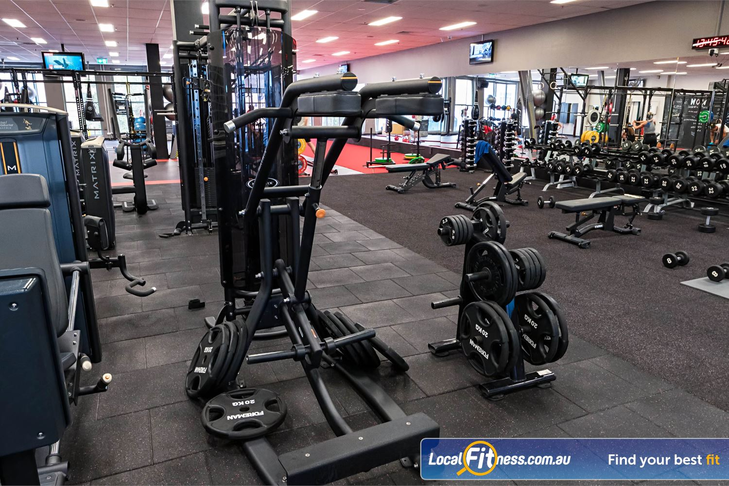 Fitness First Platinum Spring St Near Queens Park Our Bondi gym provides a fully equipped free-weights area.