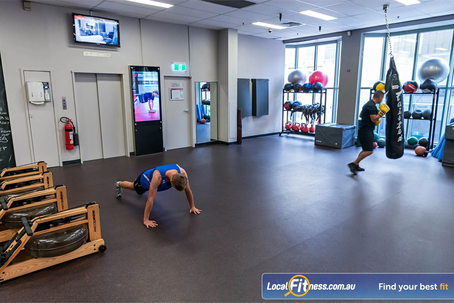 Fitness First Platinum Spring St Bondi Junction The top level is perfect for a boxing or freestyle workout.