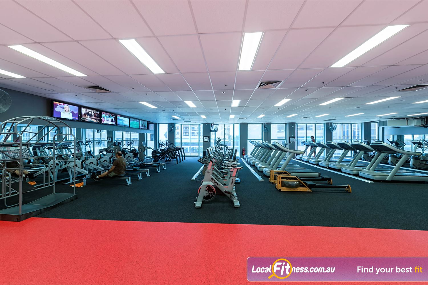 Fitness First Platinum Spring St Bondi Junction The bright and spacious cardio area in our Bondi gym.