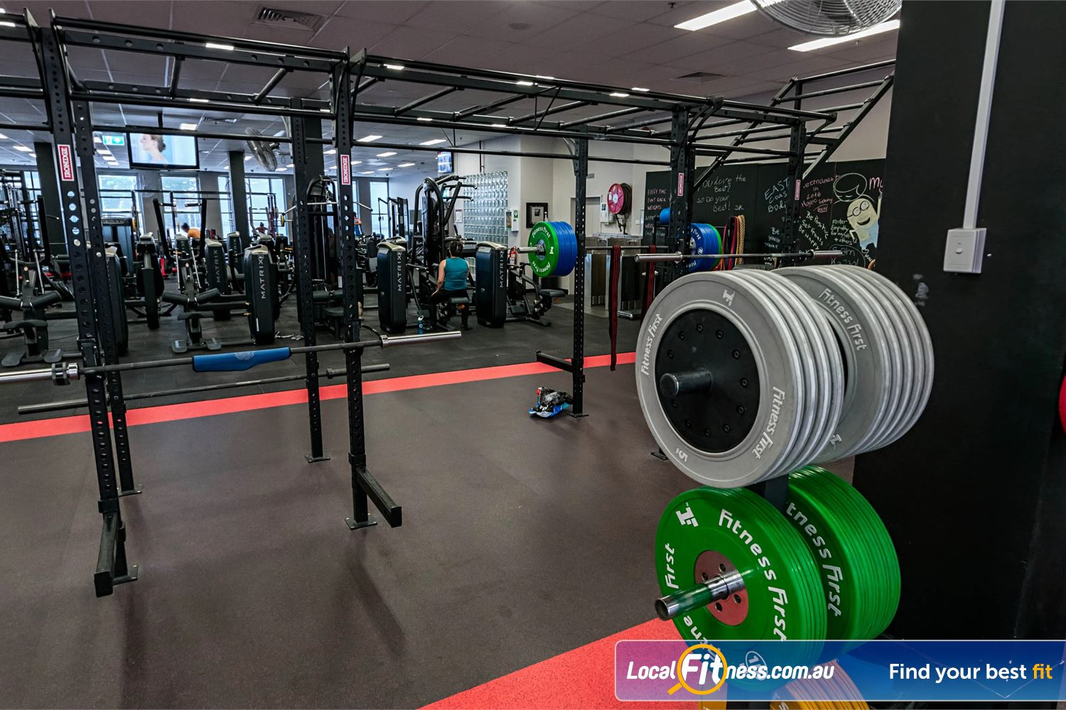 Fitness First Platinum Spring St Near Queens Park The dedicated Bondi HIIT gym space is fully equipped for functional training.