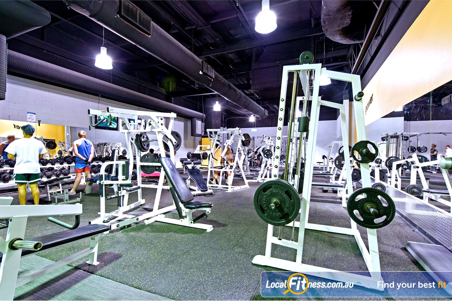 Vibe Health Clubs Blacktown Full range of dumbbells, barbells and benches.