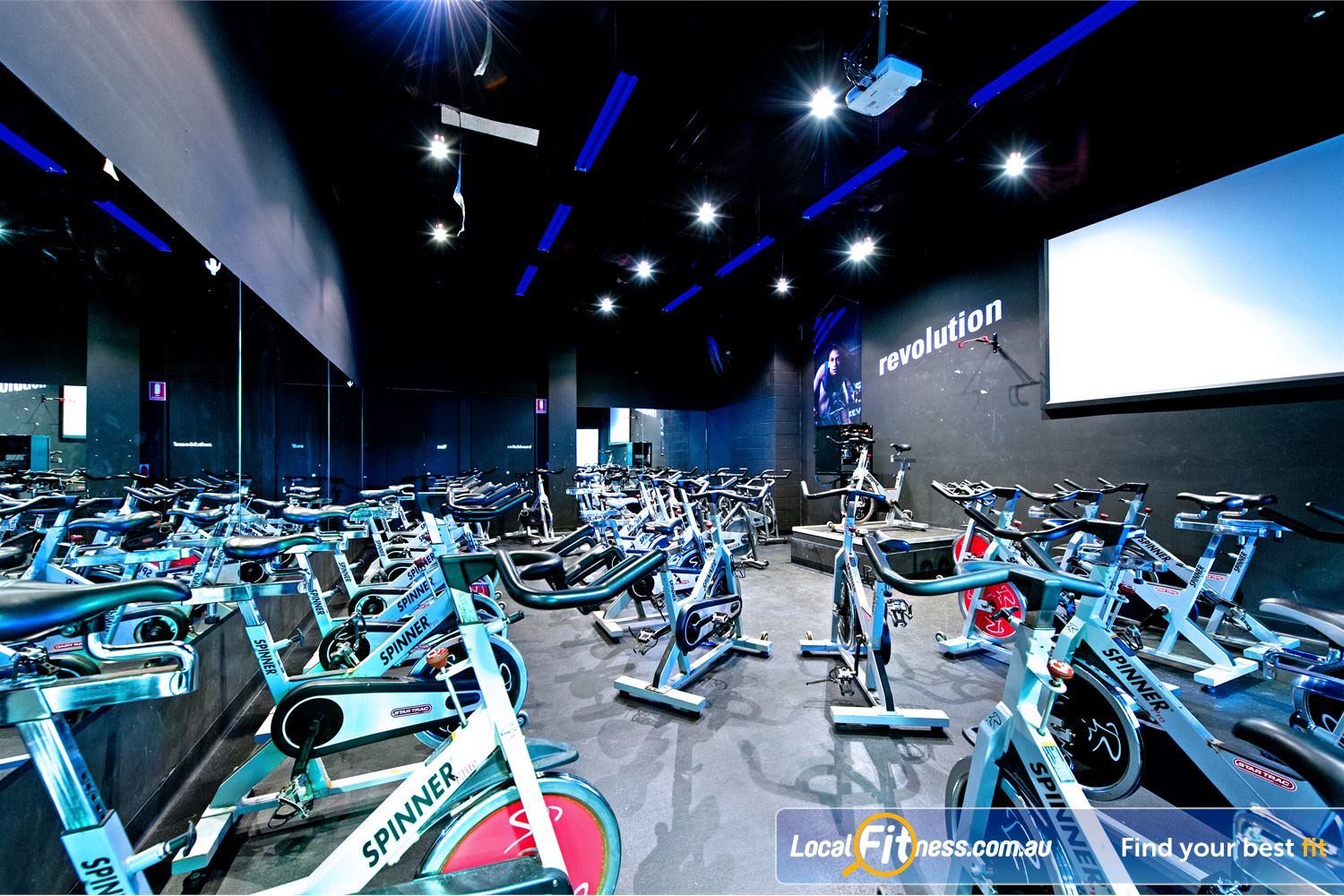 Vibe Health Clubs Blacktown Our state of the art Blacktown cycle studio.