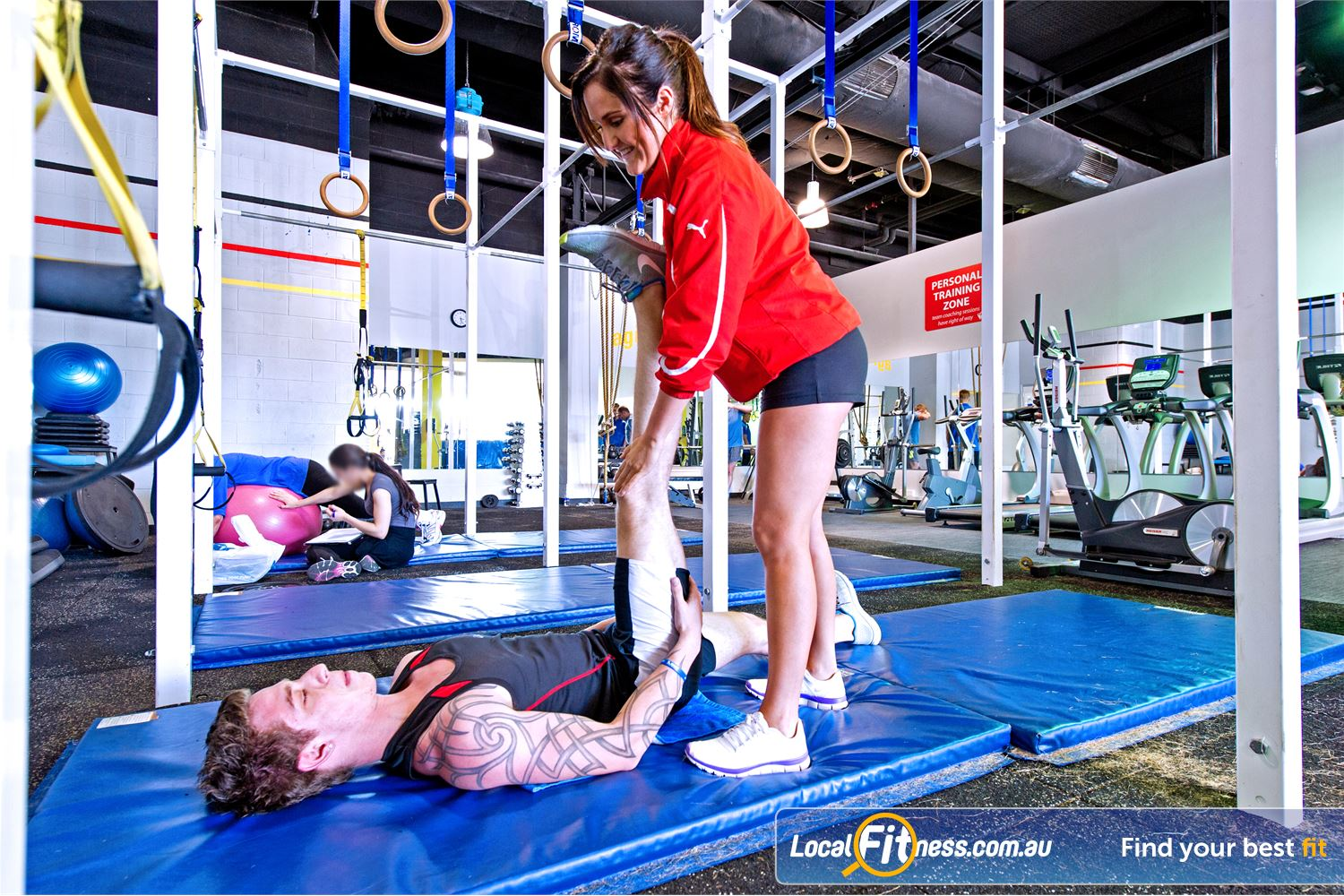 Vibe Health Clubs Near Huntingwood Fully equipped with fit balls, medicine balls, stretching mats and more.