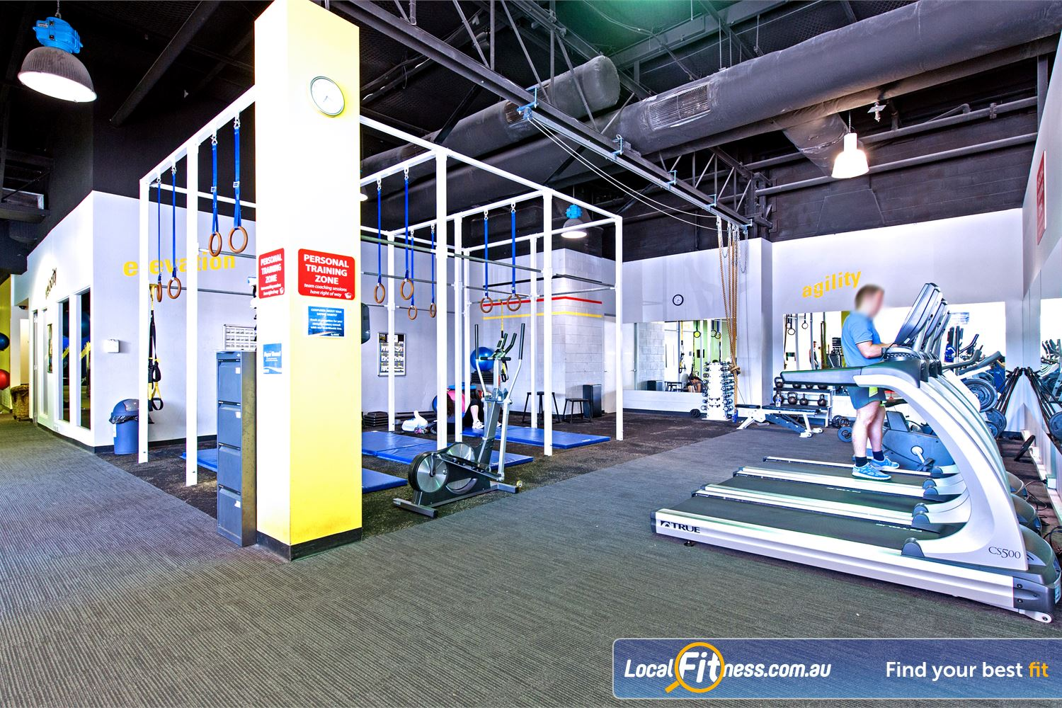 Vibe Health Clubs Near Doonside The spacious and dedicated Blacktown personal training zone.