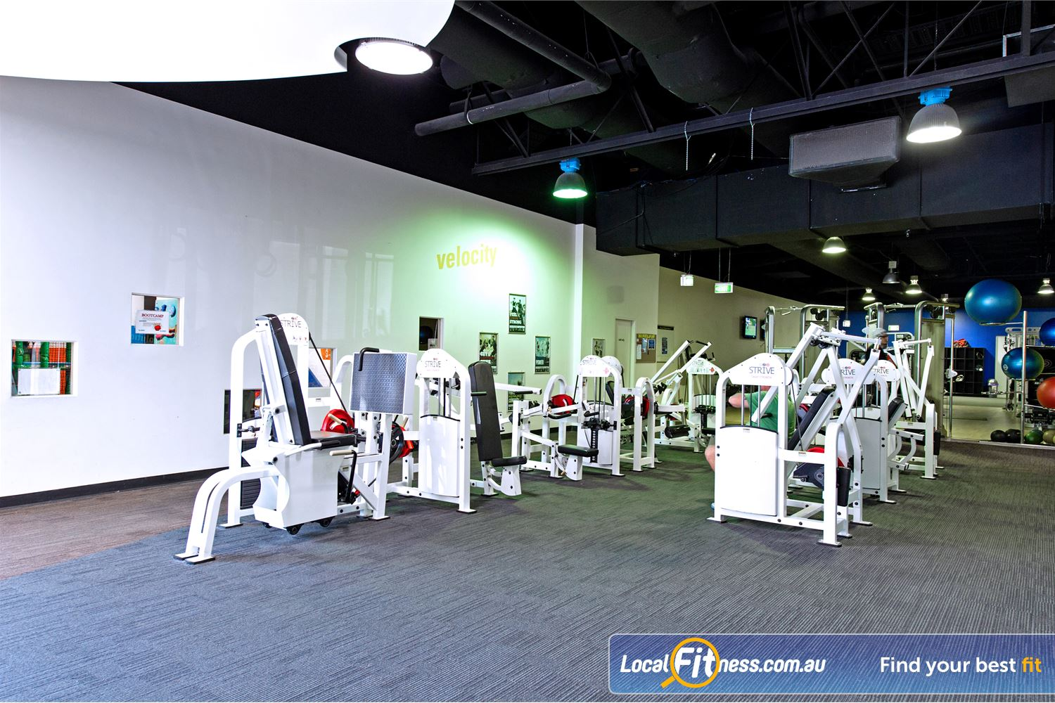 Vibe Health Clubs Blacktown State of the art equipment including the Strive Smart Strength range.