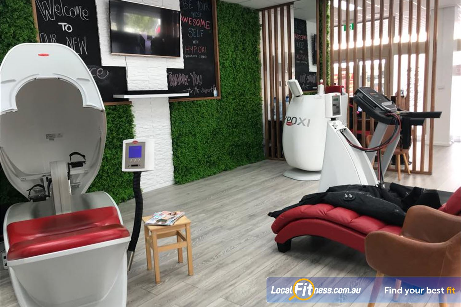 HYPOXI Weight Loss Newtown All it takes is 30 minutes of low-impact exercise in our Newtown weight-loss studio.