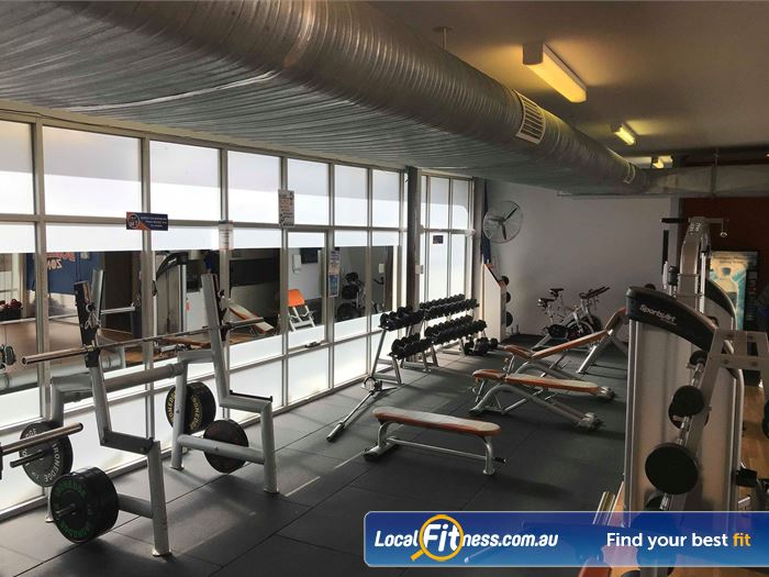 Plus Fitness 24/7 Notting Hill Gym Fitness The free-weights area in our