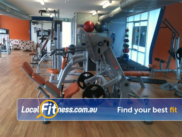 Plus Fitness 24/7 Oakleigh Our Oakleigh gym includes state of the art plate loading machines from Sports Art.