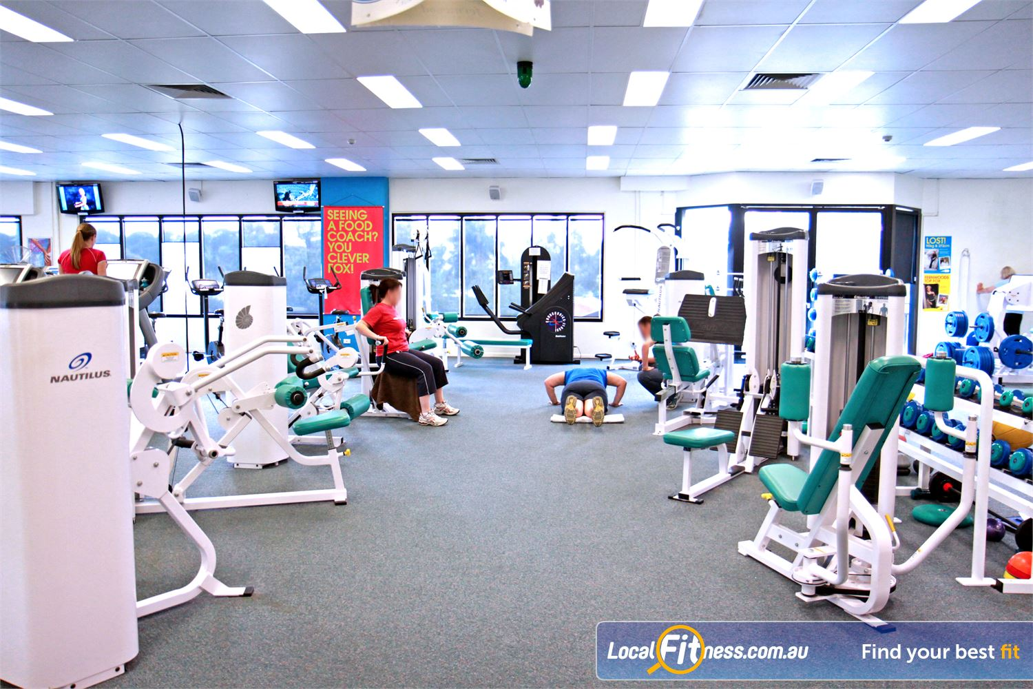 Fernwood Fitness Petrie The Fernwood Petrie gym is spacious and naturally lit.