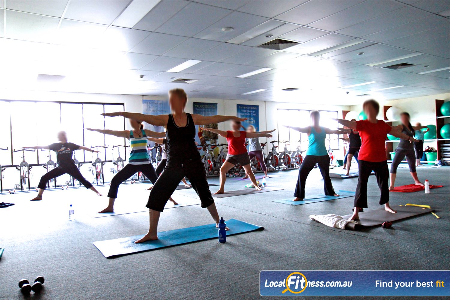 Fernwood Fitness Near Kallangur Popular classes such as Pilates and Petrie Yoga run throughout the week.