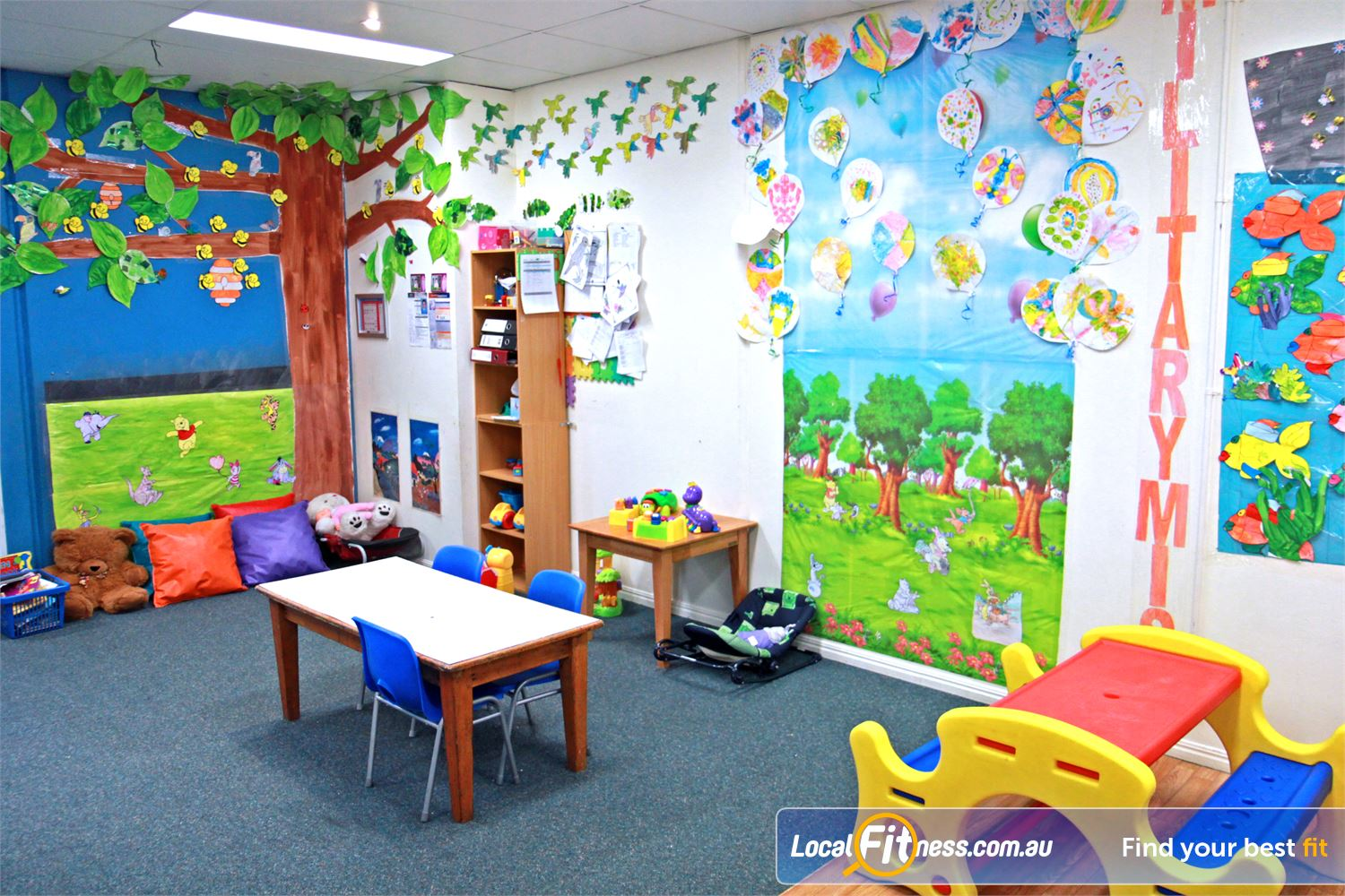 Fernwood Fitness Petrie Keep your little ones close by at all times at Fernwood gym Petrie.