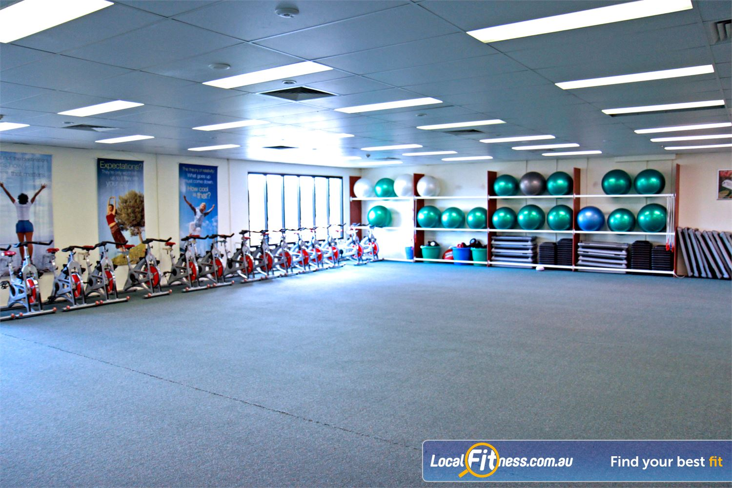 Fernwood Fitness Petrie Private ladies only aerobics studio in our Petrie gym.