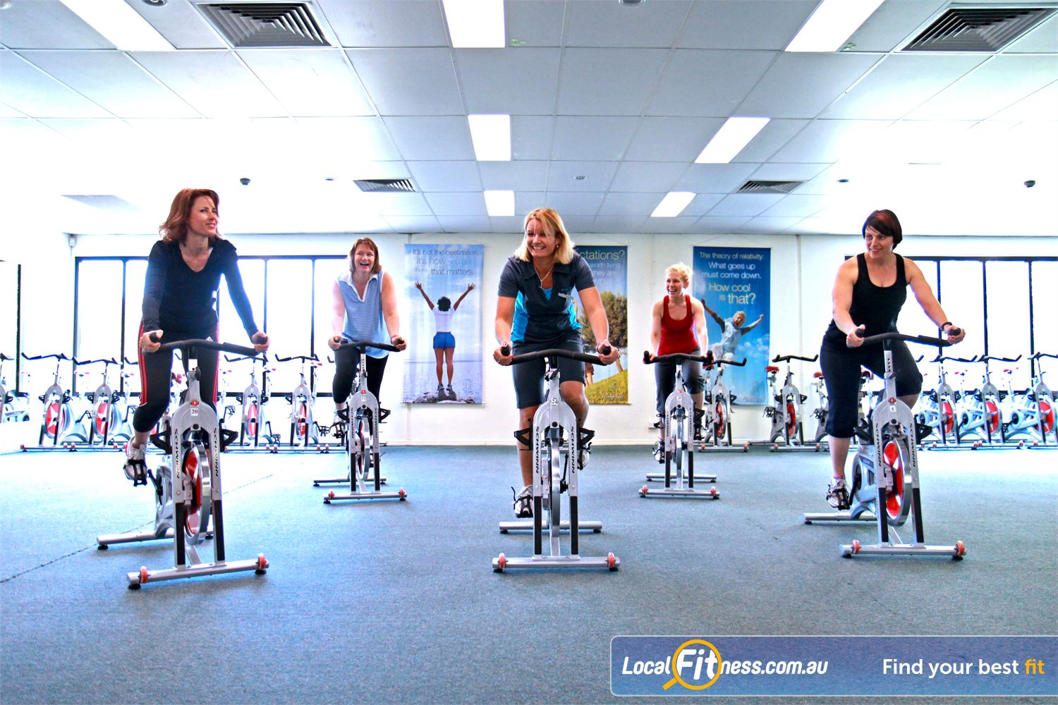 Fernwood Fitness Petrie Music to encourage you to get moving during Petrie spin cycle classes.