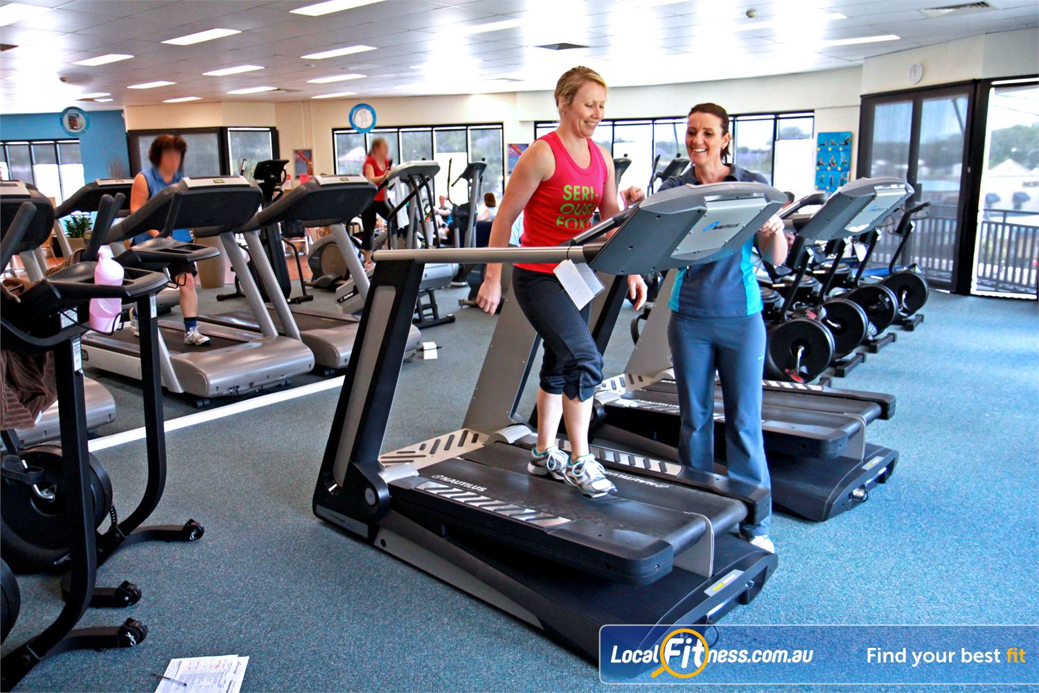 Fernwood Fitness Near Kallangur Luxury training with personal entertainment units on our machine.