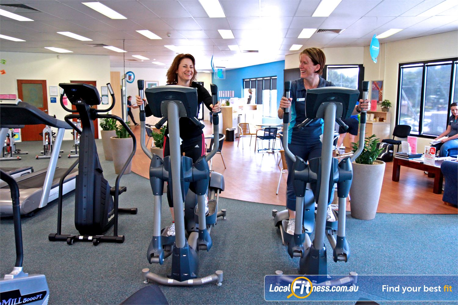 Fernwood Fitness Near Murrumba Downs Vary your workout with our HUGE range of cardio, including cross training in Petrie.