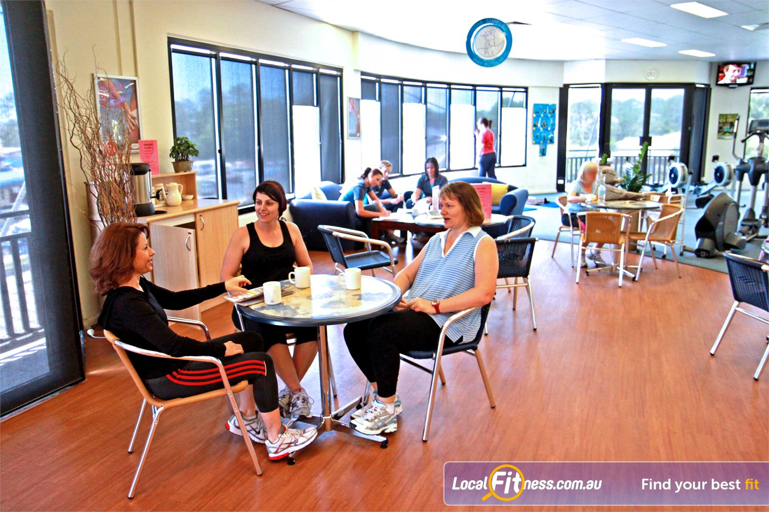 Fernwood Fitness Petrie Chat and socialise with other Fernwood Petrie women's gym members.