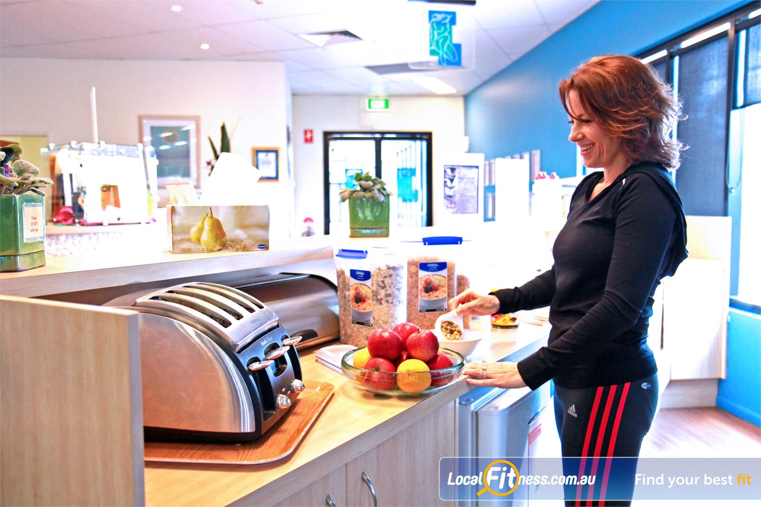 Fernwood Fitness Petrie First-class service with complimentary breakfast, tea and coffee.