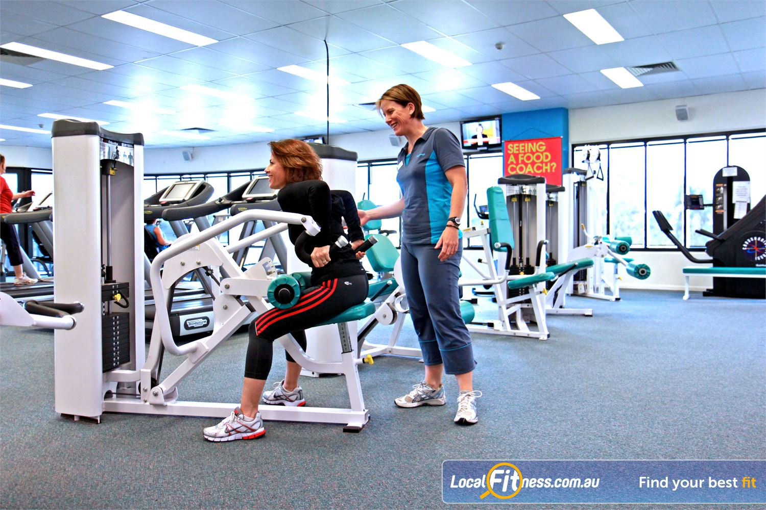 Fernwood Fitness Petrie Enjoy strength training with Petrie personal trainers.