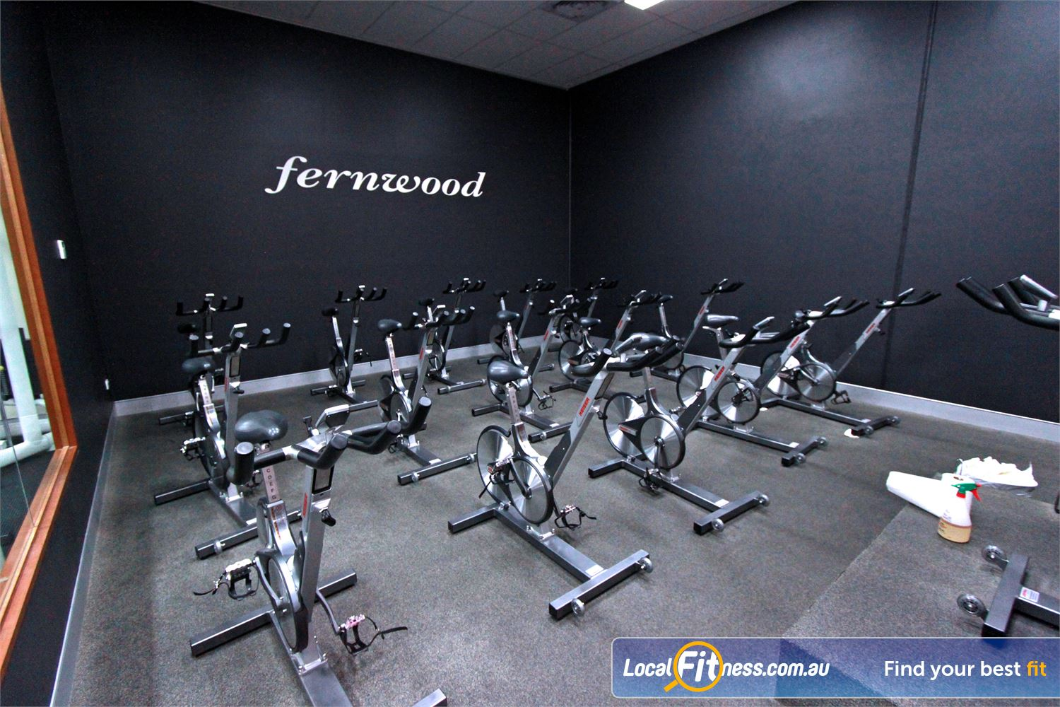 Fernwood Fitness Near Knoxfield Dedicated Ferntree Gully spin cycle studio.