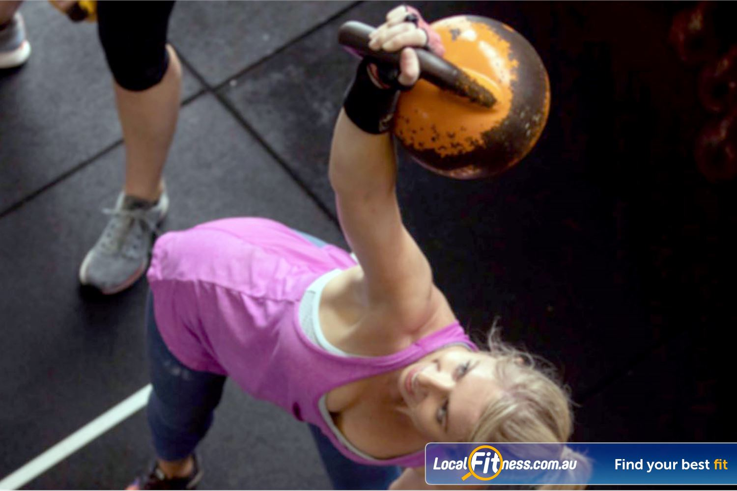 KettleFit Ascot Vale Near North Melbourne Kettlebell Windmills are a great way to work your core and entire body.