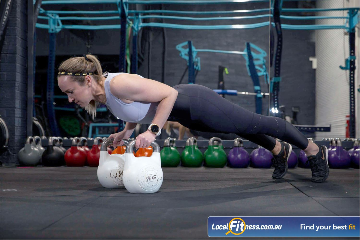 KettleFit Ascot Vale Travancore KettleFit classes works both your aerobic fitness and strength simultaneously.
