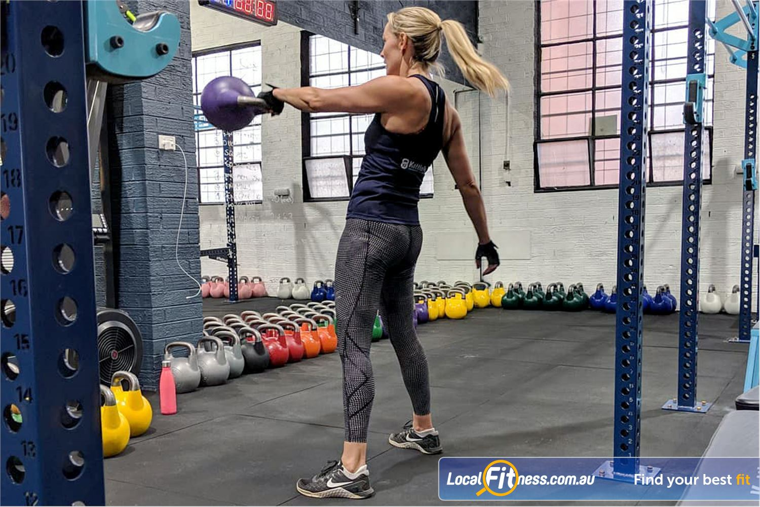 KettleFit Ascot Vale Near Brunswick West Learn the art of the Kettbell swing and swing your way to fitness.