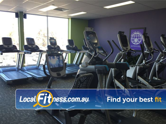 Anytime Fitness Gym Clayton  | Enjoy cardio views from level 2 at our