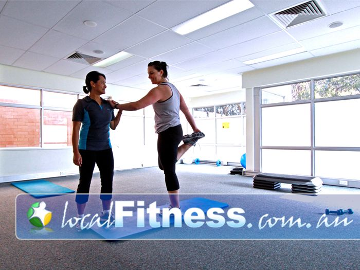 Fernwood Fitness Green Square Alexandria Fernwood Green Square personal trainers can help you with a stretching program.