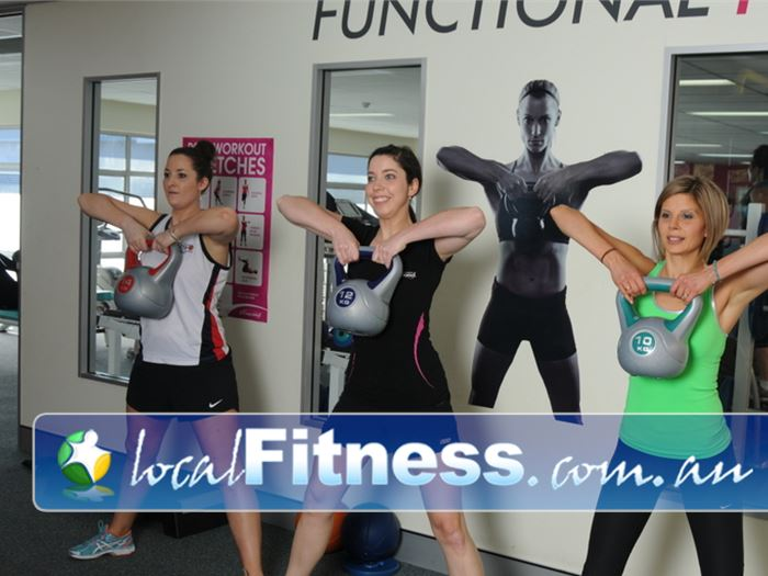 Fernwood Fitness Green Square Near Eveleigh Incorporate functional training into your workout inc. Kettlebell training.