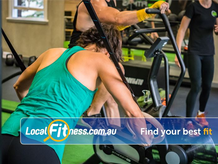 12 Round Fitness South Bank South Brisbane Suspension training, kettlebells, sled runs will keep your fitness functional.