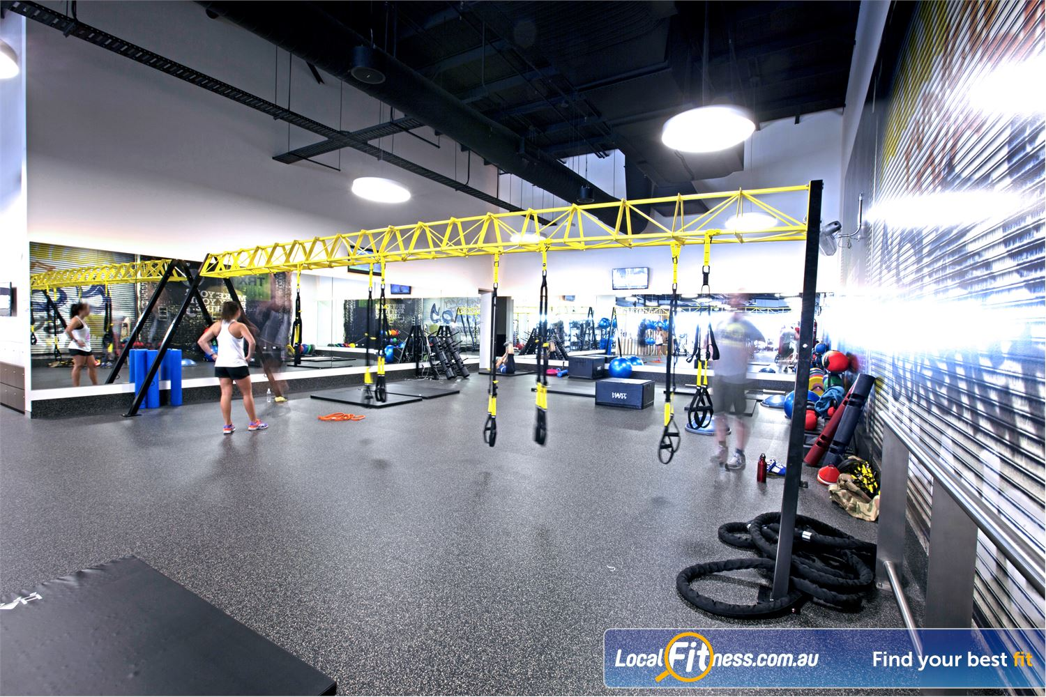 Goodlife Health Clubs Near Twin Waters Dedicated Maroochydore TRX rig and functional training zone.