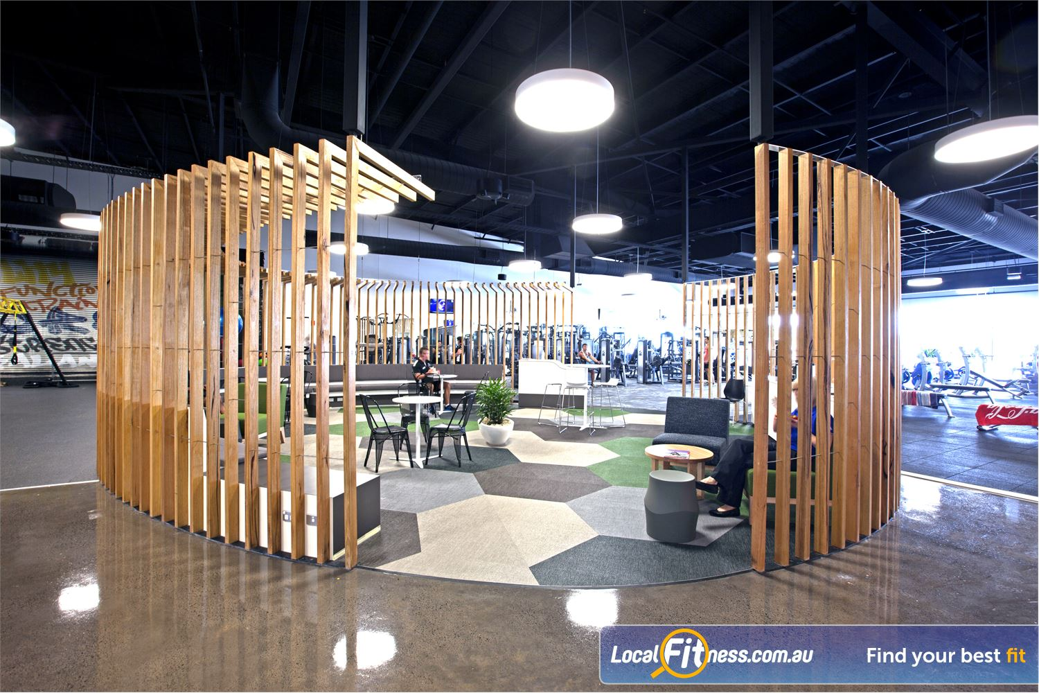 Goodlife Health Clubs Near Mudjimba Comfortable lounges and a chill out area for members and guests.