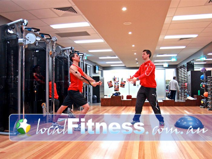 Genesis Fitness Clubs Noarlunga Centre The Matrix Cable motion provides multi-dimensional strength training.